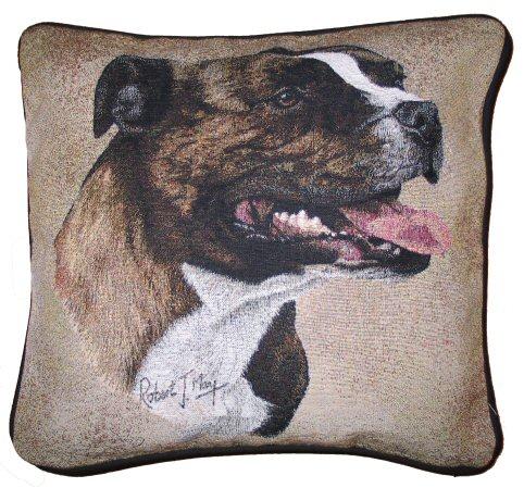 hunde baumwoll kissenbezug staffordshire bullterrier. Black Bedroom Furniture Sets. Home Design Ideas