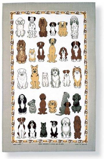 irisches leinen geschirrtuch hunde dogs 1 geschirrt cher topflappen mehr k che. Black Bedroom Furniture Sets. Home Design Ideas