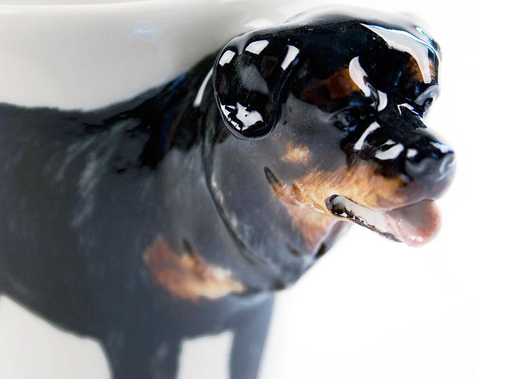 Tassen Hund : Hunde d designer tasse rottweiler handmade tierisch