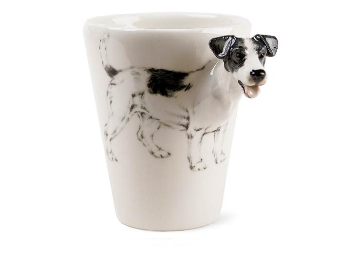 hunde 3d designer tasse jack russell terrier schwarz. Black Bedroom Furniture Sets. Home Design Ideas