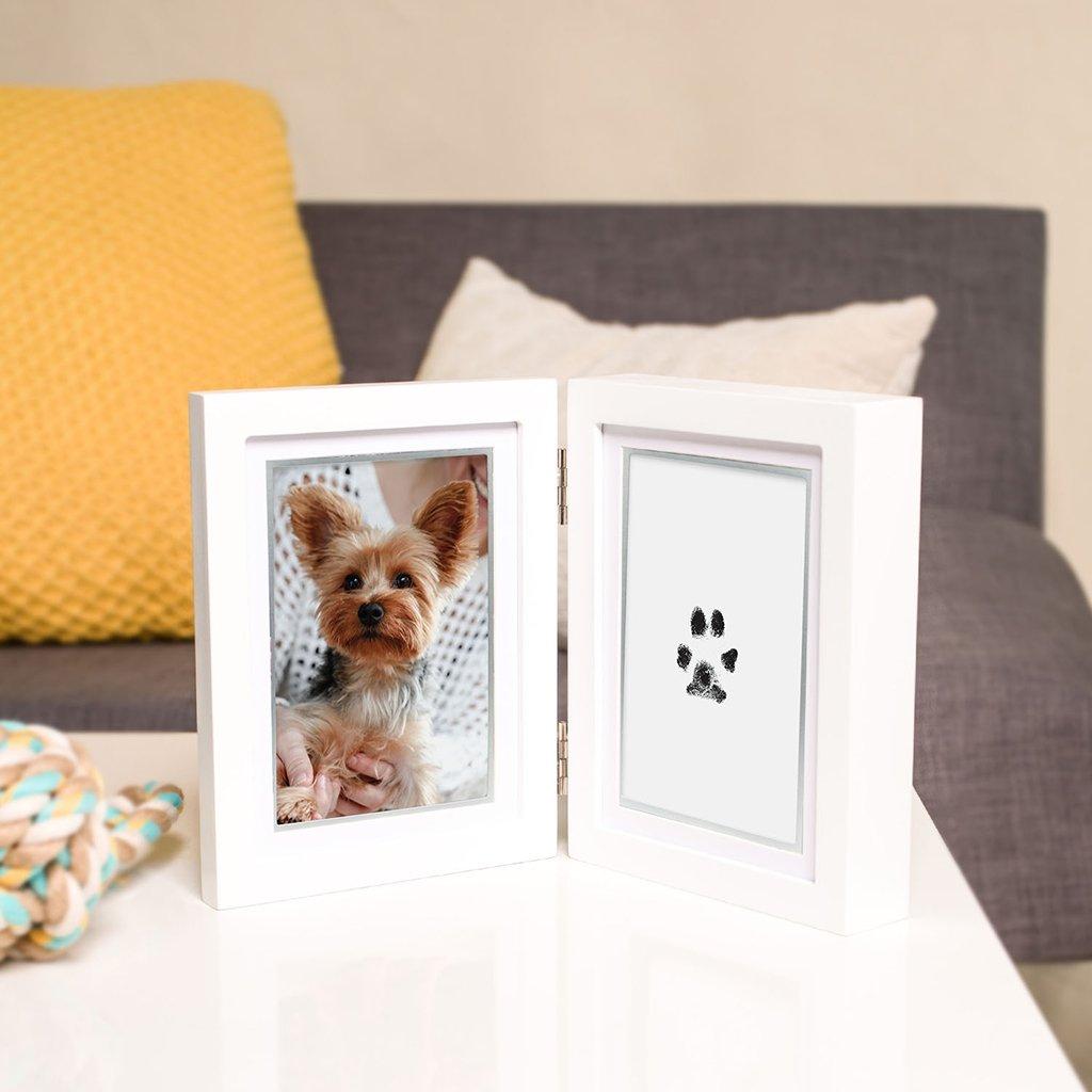 JK Haustiermarke f/ür Hunde und Katzen personalisierbar Gr/ö/ße S // L mit Pfotenabdruck