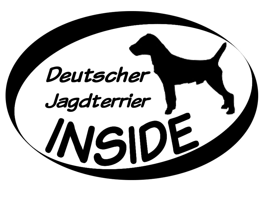 Inside Aufkleber Deutscher Jagdterrier 1