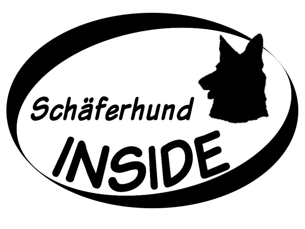 Inside Aufkleber Schäferhund Kopf