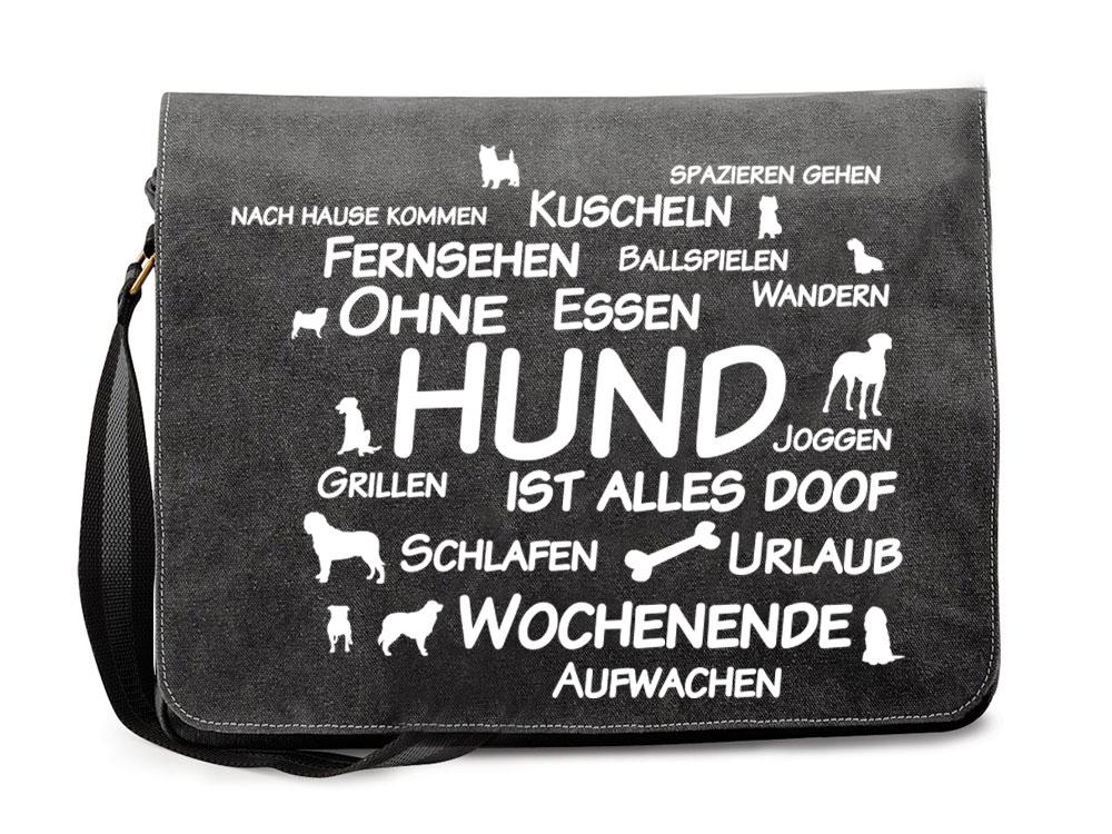 canvas tasche baumwoll tasche ohne hund ist alles doof 2. Black Bedroom Furniture Sets. Home Design Ideas