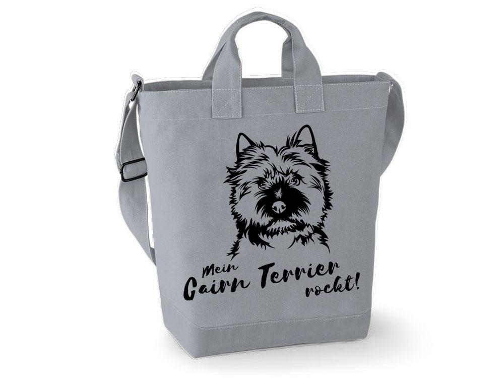 canvas shopper cairn terrier shopper tierisch tolle geschenke. Black Bedroom Furniture Sets. Home Design Ideas