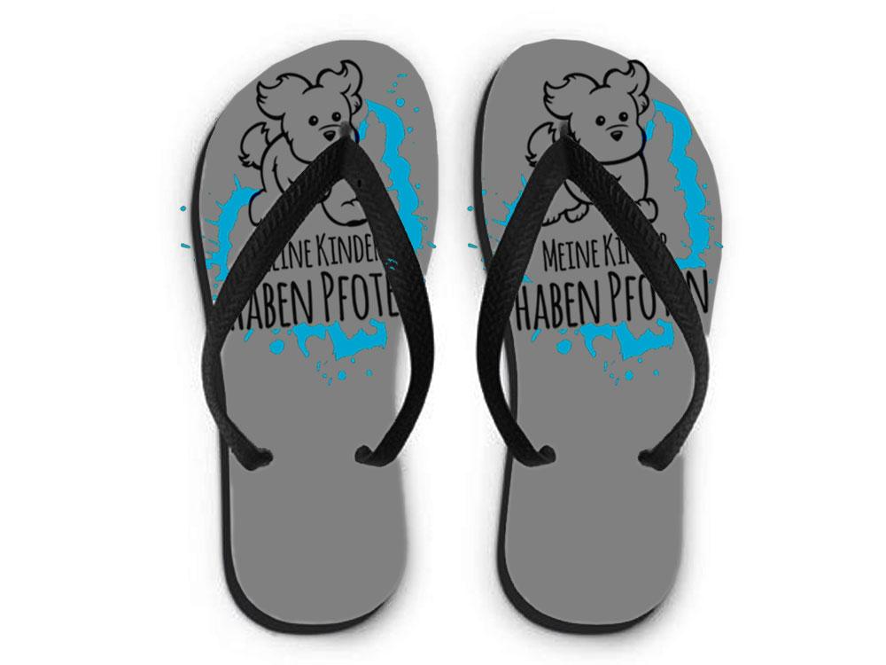 flip flops sandalen meine kinder haben pfoten 2 0 tierisch tolle geschenke. Black Bedroom Furniture Sets. Home Design Ideas