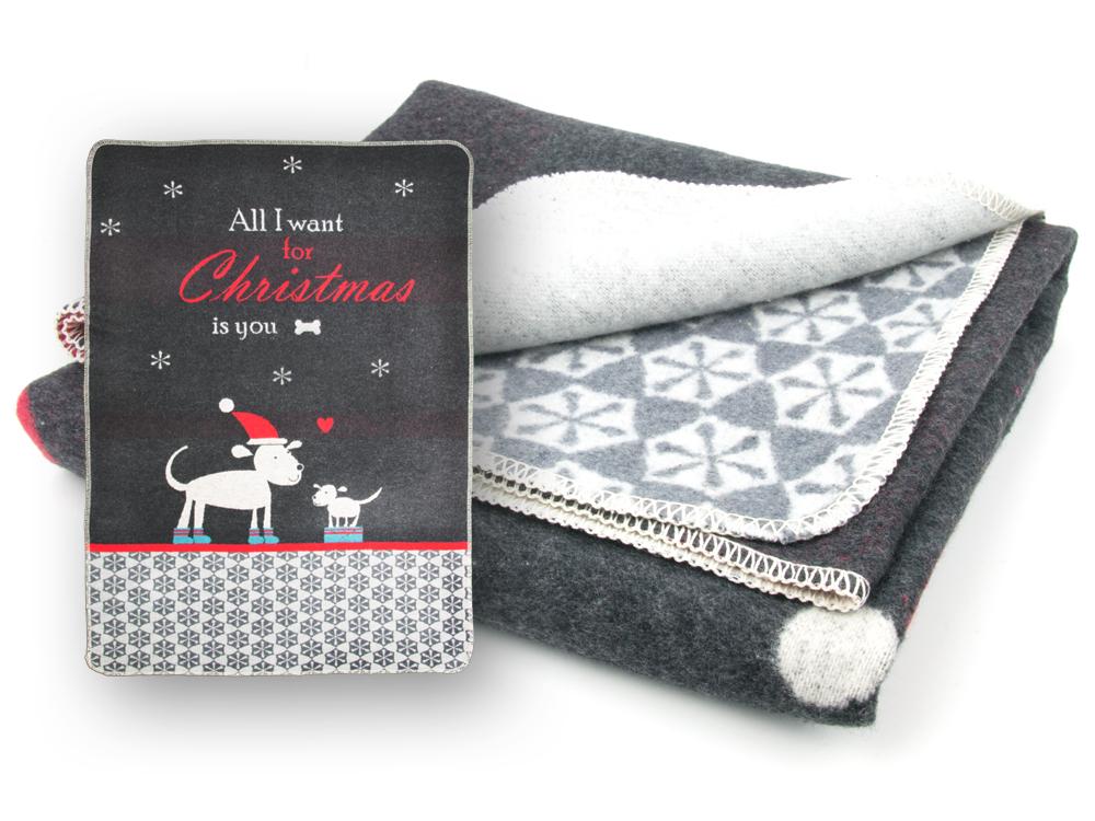 hundedecke all i want for christmas by david fussenegger 70 90 tierisch tolle geschenke. Black Bedroom Furniture Sets. Home Design Ideas