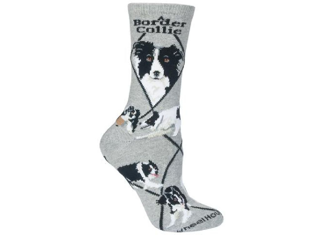 Tiersocken: Hunde Rasse Socken: Border Collie -grau- - Tierisch ... Bder In Grau