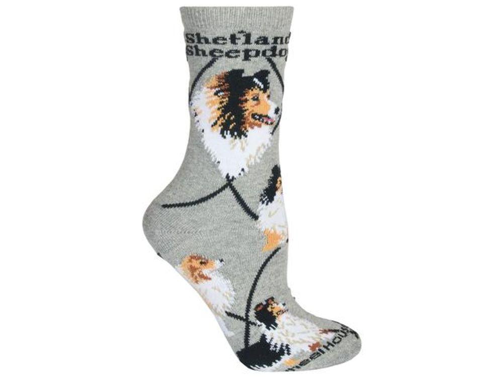 in Grau Design: Australischer Shepherd Hunde-Design Socken