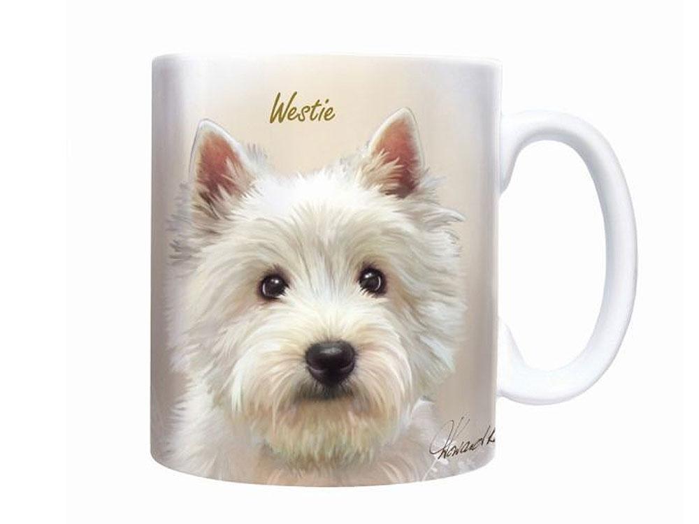 Tassen Hund : Hunde motiv tasse west highland terrier sepia