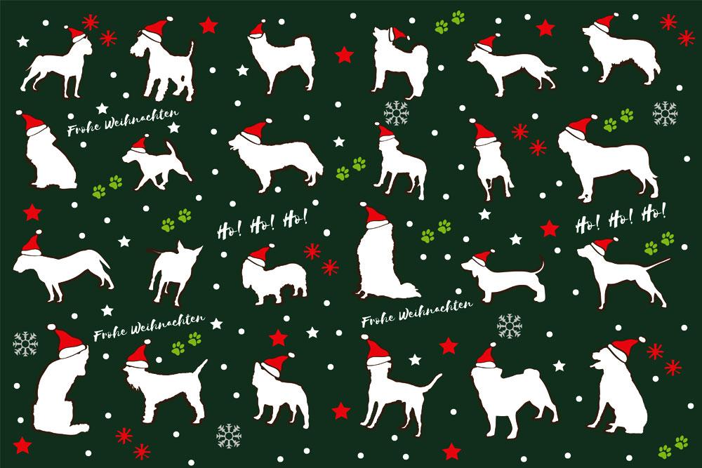 geschenkpapier f r hundefreunde weihnachten limitierte edition tierisch tolle geschenke. Black Bedroom Furniture Sets. Home Design Ideas