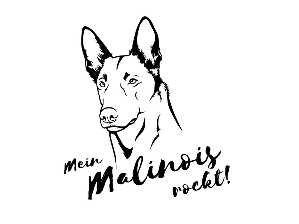 Hunderasse Aufkleber Belgischer Schäferhund
