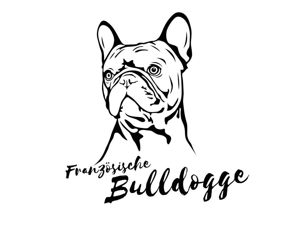 wandtattoo französische bulldogge  tierischtollegeschenke