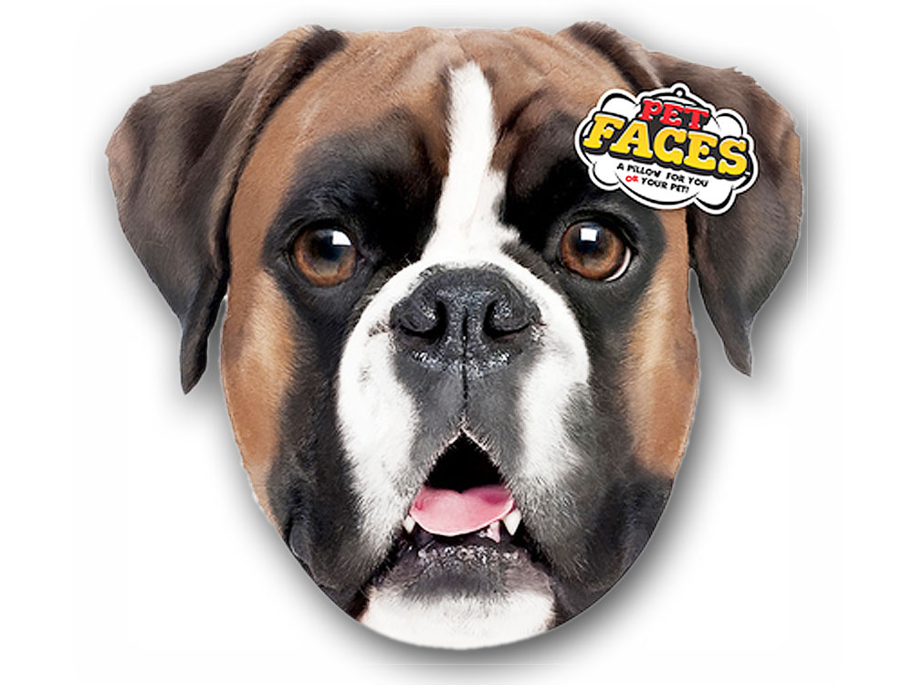 hunde pet faces kissen hund boxer 50 cm tierisch tolle geschenke. Black Bedroom Furniture Sets. Home Design Ideas