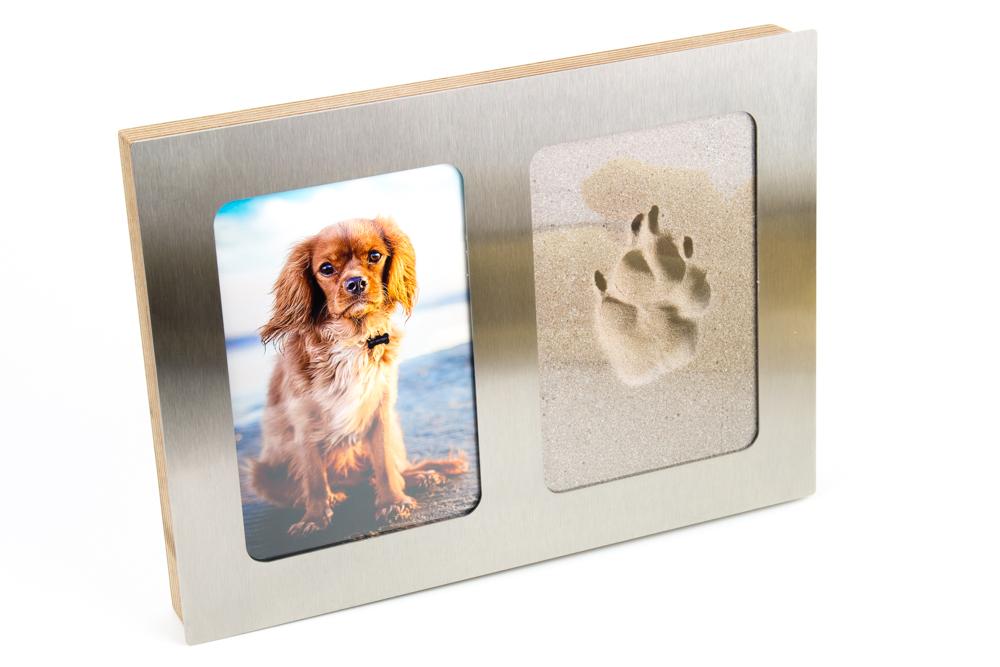 3D Pfotenabdruck Set inkl. Bilderrahmen - Edelstahl - Tierisch-tolle ...