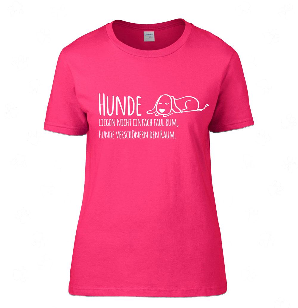 9f0777f69d80ad T-Shirt Damen Spruch -Hunde verschönern - - Tierisch-tolle-Geschenke