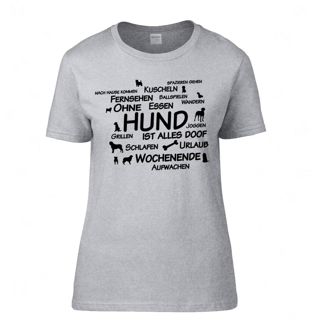 2 Alles Shirt Ist Ohne Damen T 0 Hund Doof wz0qF0Up