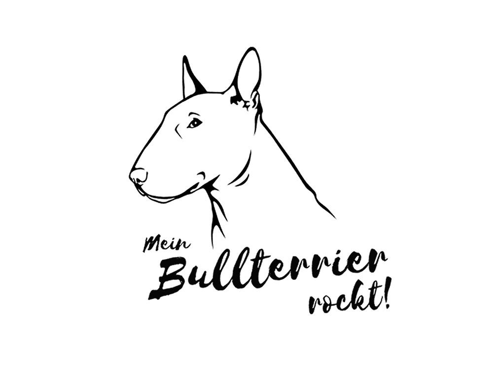 Wandtattoo Bullterrier Bullterrier Fan Kollektion Tierisch