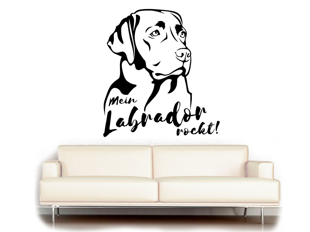 wandtattoo labrador labrador fan kollektion tierisch tolle geschenke. Black Bedroom Furniture Sets. Home Design Ideas