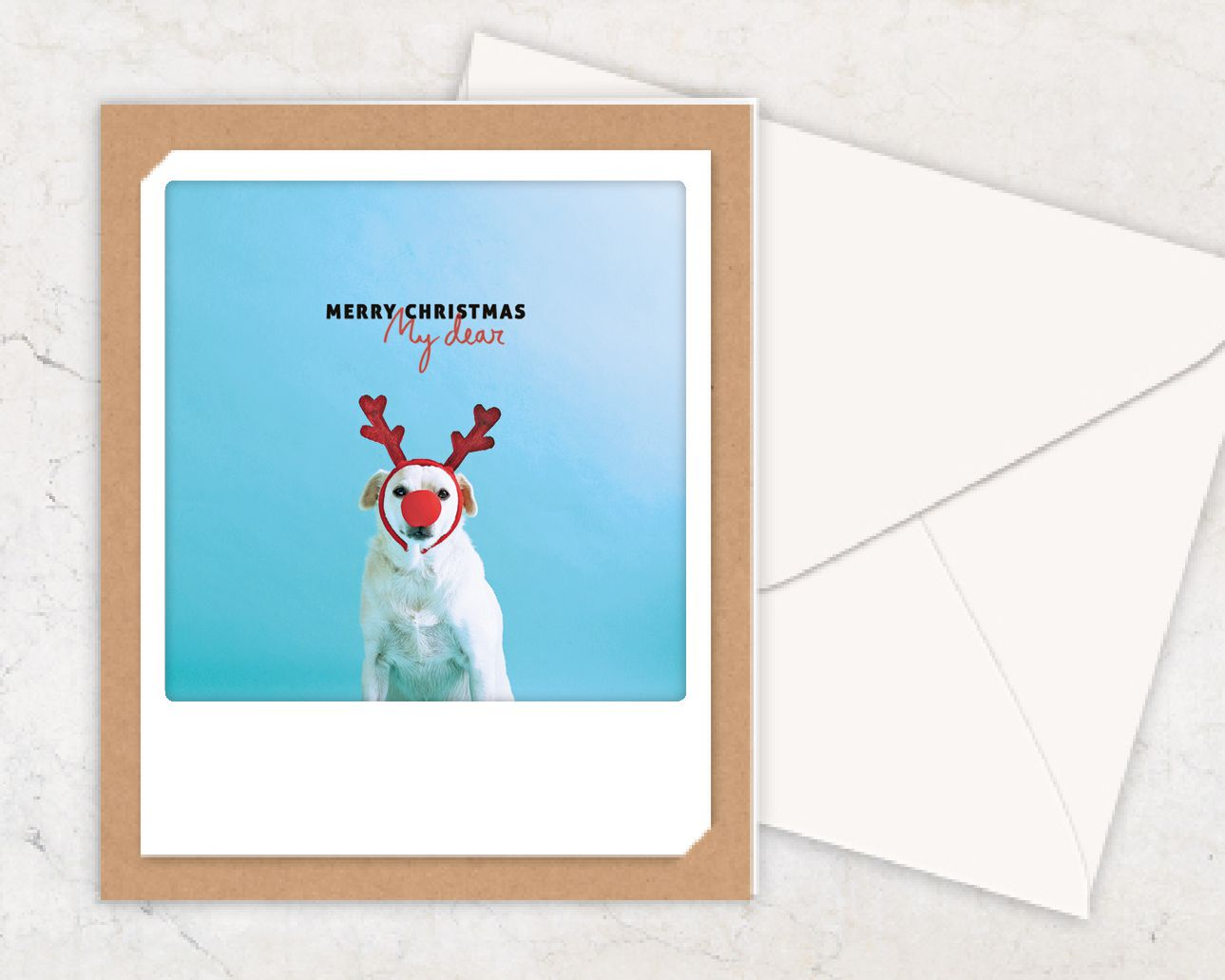 Pickmotion Karte: Merry Christmas my dear - Tierisch-tolle-Geschenke