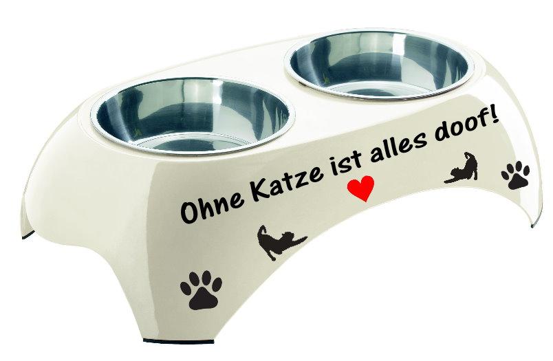 futterbar ohne katze ist alles doof wasser futtern pfe f r hunde katzen f r tiere. Black Bedroom Furniture Sets. Home Design Ideas