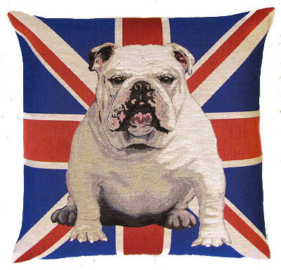 gobelin kissenbezug bulldogge englische bulldogge tierisch tolle geschenke. Black Bedroom Furniture Sets. Home Design Ideas