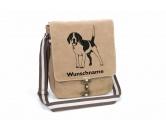 Aufkleber & TafelnAufkleber - On-LeinBeagle 1 Canvas Schultertasche Tasche mit Hundemotiv und Namen