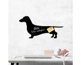 Bekleidung & AccessoiresHundesportwesten mit Hundemotiven inkl. Rückentasche MIL-TEC ®Kreidetafel Hunderasse: Dachshund Dackel 1