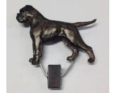 Tiermotiv Tassen3D Tassen HundeHundeausstellungs-Startnummern-Clip: Boxer Brindle