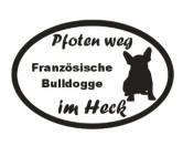 SchlüsselanhängerSchlüsselanhänger versilbertPfoten Weg - Aufkleber: Französische Bulldogge 10