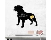 Leben & WohnenHundemotiv HandtücherKreidetafel Hunderasse: Staffordshire Bullterrier 1