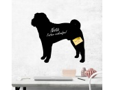 The Mountain FaceThe Mountain-Shirts HundeKreidetafel Hunderasse: Shar Pei 1