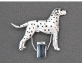 Für MenschenHunde Motiv Handtuch -watercolour-Hundeausstellungs-Startnummern-Clip: Dalmatiner