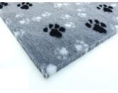 Dry-Bed - mehrfarbig - antirutschDry-Bed: Grau Mit Pfötchen 100x75cm
