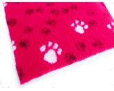 Dry-Bed - mehrfarbig - antirutschDry-Bed: PINK mit Pfötchen 50x75cm