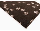 Dry-Bed - mehrfarbig - antirutschDry-Bed: Braun Mit Pfötchen 100x150cm