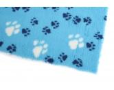 Dry-Bed - mehrfarbig - antirutschDry-Bed: Hellblau Mit Pfötchen 100x75cm