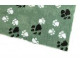 MarkenDry-Bed: Jagdgrün Mit Pfötchen 100x75cm