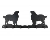 Selbstklebende KreidetafelnHundeBerner Sennenhund Leinengarderobe - Schlüsselbrett 6 Haken
