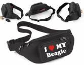 Taschen & RucksäckeCanvas Tasche HunderasseHundemotiv-Bauchtasche-Utensilientasche I Love My: Beagle