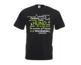 Für MenschenNostalgische GeschenkartikelHerren T-Shirt: Ohne Hund ist alles doof 2.0