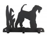 Bekleidung & AccessoiresHundesportwesten mit Hundesprüchen inkl. Rückentasche MIL-TEC ®Airedale Terrier Leinengarderobe - Schlüsselbrett