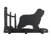 Bekleidung & AccessoiresHundesportwesten mit Hundemotiven inkl. Rückentasche MIL-TEC ®Bearded Collie Leinengarderobe - Schlüsselbrett