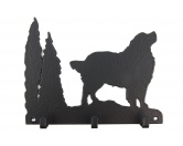 Selbstklebende KreidetafelnHundeBerner Sennenhund Leinengarderobe - Schlüsselbrett