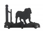 Socken mit TiermotivSocken mit HundemotivEnglische Bulldogge Leinengarderobe - Schlüsselbrett