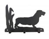 Bekleidung & AccessoiresHundesportwesten mit Hundemotiven inkl. Rückentasche MIL-TEC ®Dackel Rauhaar Leinengarderobe - Schlüsselbrett
