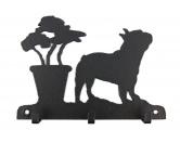 Bekleidung & AccessoiresGesichtsabdeckungFranzösische Bulldogge Leinengarderobe - Schlüsselbrett