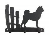 Bekleidung & AccessoiresHundesportwesten mit Hundemotiven inkl. Rückentasche MIL-TEC ®Shiba Inu Leinengarderobe - Schlüsselbrett