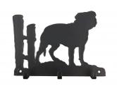 Taschen & RucksäckeBaumwolltaschenStaffordshire Bullterrier Leinengarderobe - Schlüsselbrett