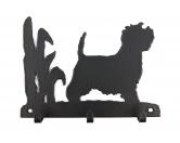 Tierische-FigurenVersilberte Hunde-FigurenWestie - West Highland Terrier Leinengarderobe - Schlüsselbrett
